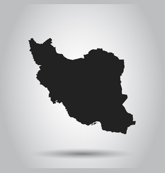 Iran map black icon on white background vector