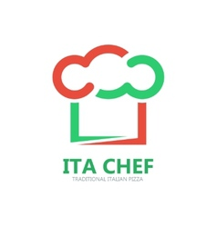 Italian chef logo or symbol icon vector
