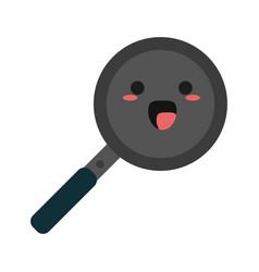 Kawaii pan icon image vector