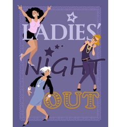 Ladies Night Out vector image