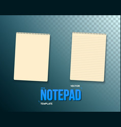 Notepad set realistic empty notepad template open vector
