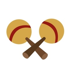 pair of maracas icon vector image