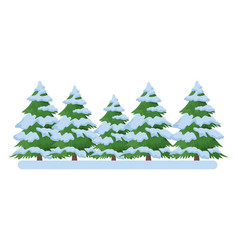Pine trees icons vector