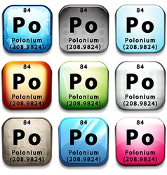 Polonium vector