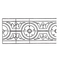Popular renaissance rosette band is pattern of a vector