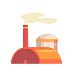 power station industrial manufactury building vector image