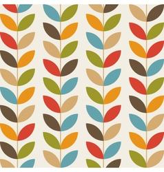 Retro flower pattern background vector image