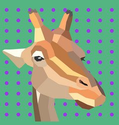 retro style giraffe vector image