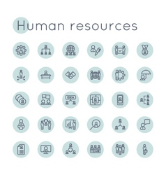 Round HR Icons vector