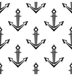Sea anchor seamless pattern vector