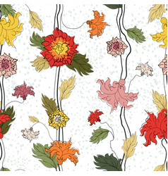 seamless floral hand drawn pattern vector image
