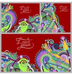 set floral decorative background template frame vector image