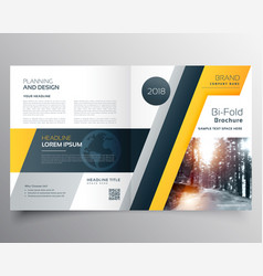 Stylish business bifold brichure or magazine vector