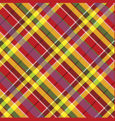 summer seamless pattern madras check fabric vector image