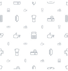 treatment icons pattern seamless white background vector image