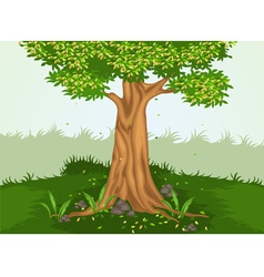 Tree and nature vector image vector image