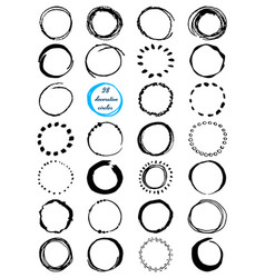 Uniqiue handdrawn shapes of cirles for logo design vector
