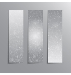 Vertical Grey Rectangle Banners Snow Winter vector