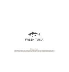 vintage retro fresh tuna tunny fish for seafood vector image