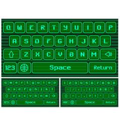 virtual keyboard for smartphone vector image