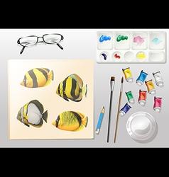 Water colour design elements vector