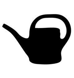 Watering can silhouette vector