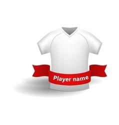 White sports shirt icon cartoon style vector