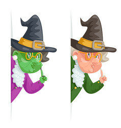 witch wise advice look out corner grandmother vector image