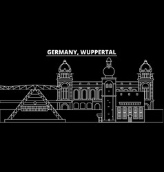Wuppertal silhouette skyline germany - wuppertal vector