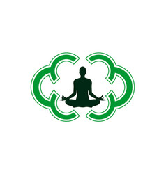 yoga meditation logo icon design vector image