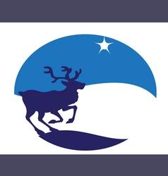 Young deer blue vector