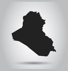 Iraq map black icon on white background vector