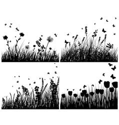 meadow set vector image