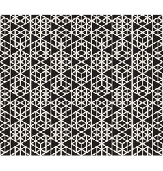 Seamless Black And White Triangle Grid vector image