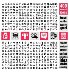 universal icons set vector image vector image