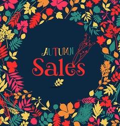 Autumn sales design vector image vector image