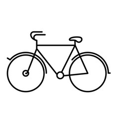 black silhouette with tourist bicycle icon vector image