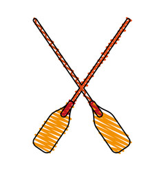 paddles vector image