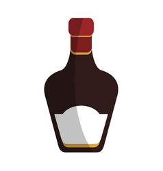 whisky bottle icon vector image vector image