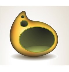 Abstract yellow speech bubble vector