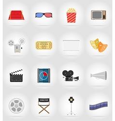 cinema flat icons 17 vector image vector image