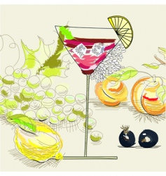 fruit cocktail vector image