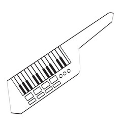 Isolated keytar icon musical instrument vector