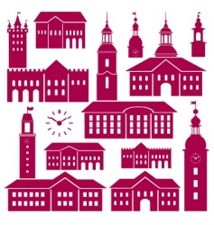 old town elements vector image