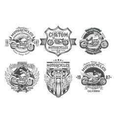 set black vintage badges emblems with a vector image