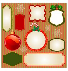 set of Christmas frames vector image