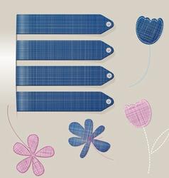 stick jeans flower vector image