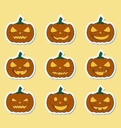 pumpkins for Halloween set vector image vector image