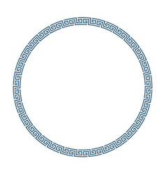 round frame greek style vector image vector image