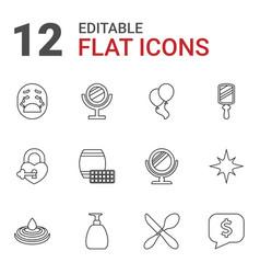 12 shiny icons vector